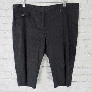 Theory Shorts Womens Size 12 Black Linen Blend